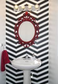 diy chevron stenciled wall via hometalk