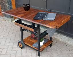 industrial modern furniture. Bar Serving Cart Trolley One Of The Kind Reclaimed Industrial Modern Rustic Furniture K