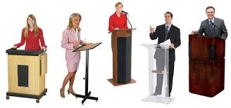 Podium Size Chart Podium And Lectern Buyers Guide
