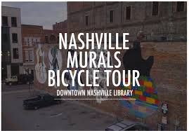 a tour showcasing nashville s downtown murals by bicycle the tour will meet at the downtown library and gather at the statue of books at the corner of 7th