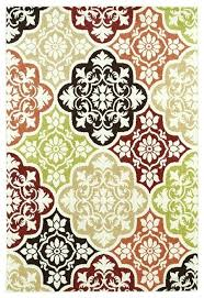 5x8 outdoor patio rug delectably yours decor summer tile multi color indoor outdoor rug or smart