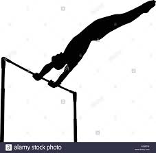 vault gymnastics silhouette. Black Silhouette Horizontal Bar Man Gymnast In Artistic Gymnastics Vault