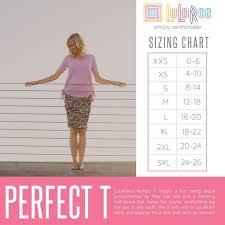 Lularoe Perfect T Size Chart Lularoe Perfect Lularoe
