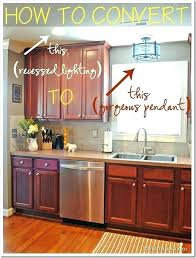 changing recessed lighting to pendant phenomenal convert light tutorial how lights pendants the with regard converting