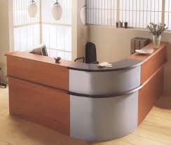 round office desk. Dark Brown Half Round Office Desk With A Shaped Metal Bases -
