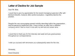 how to decline a job offer reject job offer barca fontanacountryinn com