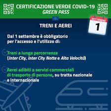 Green Pass | Certificazione verde Covid – 19 - novità dal 1 settembre 2021  - Comune di Vanzago