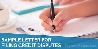 Delinquent Account Letter Template Sample Letter For Filing Credit Disputes 2019 Updated Template