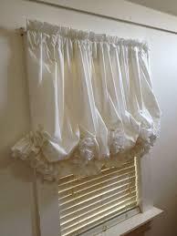 custom white double ruffle balloon curtain by mimiandme2 on