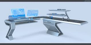 Tomorrow's Futuristic Computer Desk by W-E-Z ...