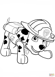 Coloring Pages Paw Patrol Marshall Fresh Paw Patrol Rubble Coloring