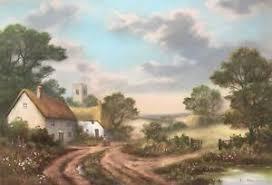 Wendy Reeves firmada pintura Pastel Original En Inglés Paisaje Cottage    eBay