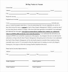 30 30 Day Eviction Notice Template Tate Publishing News