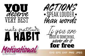 So go on and start downloading now! Motivational Quotes Bundle Vector Graphic By Saudagar Creative Fabrica
