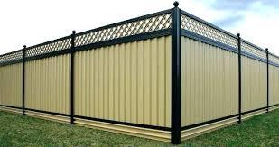 sheet metal fence diy privacy metal privacy fence83 metal