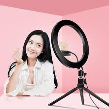Selfie Ring Light For Makeup Us 3 2 32 Off Usb Dimmable Led Selfie Ring Light Makeup Lamp Cellphone For Live Stream Phone Clip Holder Adjustable Desk Lamp Makeup Light In Vanity