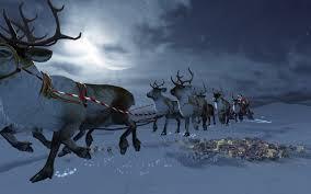 real santa claus and reindeer flying. 5120 3200 UHD WHXGA And Real Santa Claus Reindeer Flying