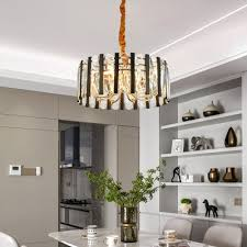 gold drum chandelier light modernism