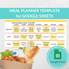 diet excel sheet meal planner template spreadsheet grocery planning excel google