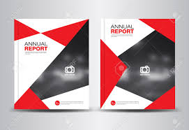 Leaflet Design Portfolio Red Annual Report Template Polygon Background Brochure Design Cover