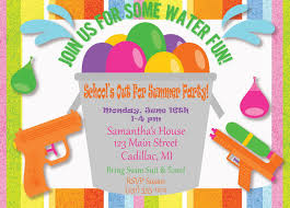 Kids Party Invitation Kids Summer Party Invitation Kids