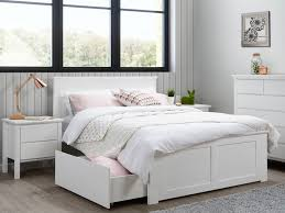 bedroom furniture storage. White Double Bedroom Suite With Storage Modern Timber Kids Beds Furniture G