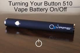 Turning a <b>Button</b> Vape <b>Battery</b> On/ Off | O2VAPE