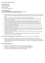 School Psychologist Resume Sample Best School Psychologist Resumes