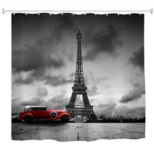 tower and car polyester shower curtain bathroom curtain high definition 3d printing water proof anti