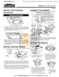 pdf manual for broan nutone other designer series 721 exhaust fans broan nutone other designer series 721 exhaust fans pdf page preview