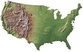 Elevation Chart Us 3d Elevation Map Of Usa
