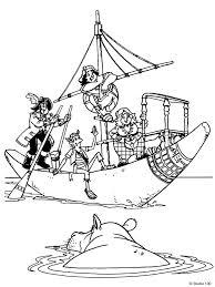 Kleurplaat Piet Piraat En Het Vliegende Schip