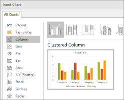 Insert 3d Clustered Column Chart Excel Use Charts And Graphs In Your Presentation Powerpoint