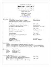 Resident Medical Officeresume Example Templates Mbbs Sample Format