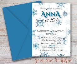 Snowflake Birthday Invitations Frozen Birthday Party Invitation Snowflake Party Blue