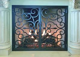 hand forged iron fireplace doors fd001 from mantel depot in san go