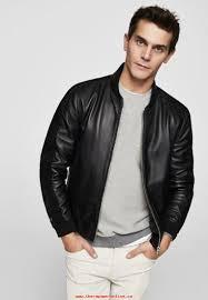 fashion men black mango berkan leather jacket en6mycvf