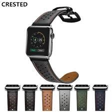 crested leather strap for apple watch band 4 42mm 38mm 3 iwatch band 44mm 40mm correa apple watch 4 band wrist bracelet belt 2 1