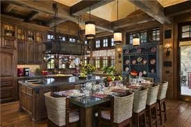 Open CountryRustic Kitchen by Jerry Locati Mountain Lake Campy