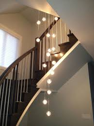 Long Drop Stairwell Pendant Lights Globe Pendants Lighting Alternative To Bocci Lighting Using