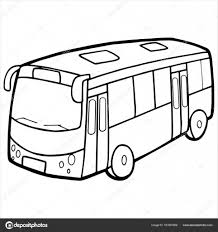 白で隔離バス漫画イラスト ストックベクター Foxynguyen 161601808