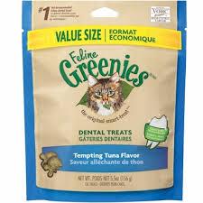 Greenies Size Chart Greenies Feline Dental Treats Tempting Tuna Flavor 5 5 Oz