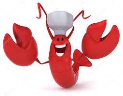Funny lobster cartoon ...
