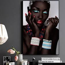 <b>Sexy</b> Black Nude African <b>Woman</b> With Red Lips
