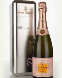 metal fridge gift box veuve clic rose