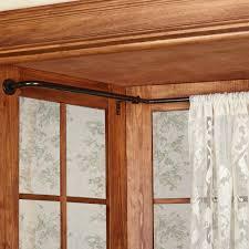 decorative rods and tiebacks touch of class oriel wraparound bay window curtain rod set