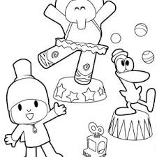 Small Picture Pocoyo is a Car Racer Coloring Page Color Luna