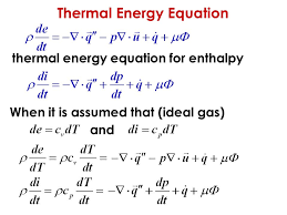 17 thermal energy equation