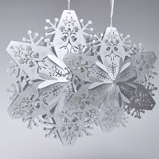 paper snowflakes 3d stardream silver large 3d snowflakes