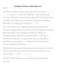 Sample Termination Of Business Letter 6 Examples In Word